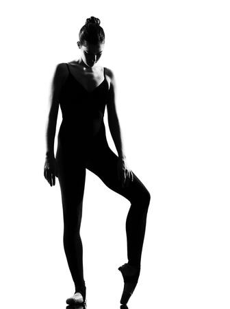 turnanzug: beautiful caucasian hoch Woman Ballettt�nzerin st�ndigen darstellen vollen L�nge auf wei�em hintergrund isoliert studio