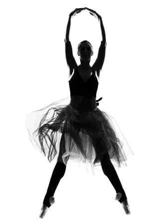 beautiful caucasian hoch Woman Ballet Tänzerin voller Länge auf weißem hintergrund isoliert studio