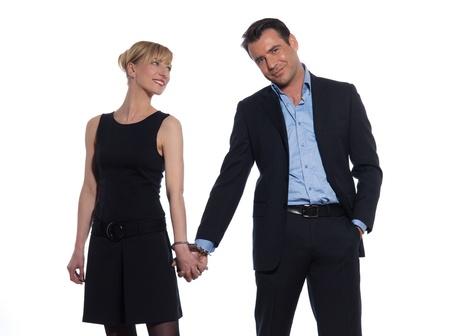 beautiful caucasian couple on studio white background Stock Photo - 11766525