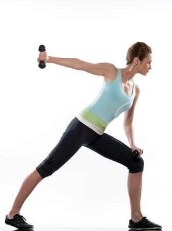 lunges: woman doing workout