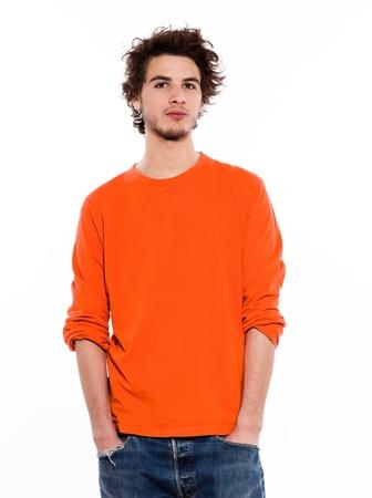 young expressive caucasian man portrait in studio on white background Stock Photo - 11765715