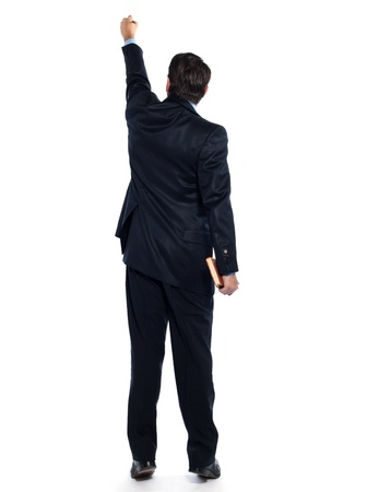 arrogancia: el hombre cauc�sico maestro profesor por escrito posterior estudio aislado sobre fondo blanco