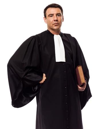 hommes: un hombre cauc�sico abogado en el estudio aislado sobre fondo blanco