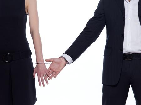 caresses: beautiful caucasian couple on studio white background Stock Photo