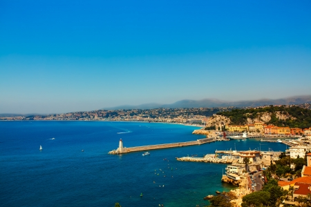 cote d'azur: beautiful skyline of nice cote dazur on the french riviera france Stock Photo