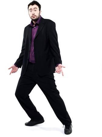 strange man attitude man on isolated white background Stock Photo - 15099230
