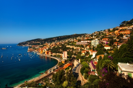 dazur: beautiful village of villefranche sur mer on the french riviera france  cote dazur