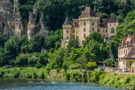 la: chateau de la mallantrie  village of La roque gageac dordogne perigord France
