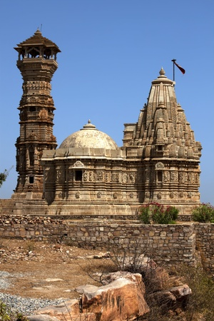 chittorgarh fort: tower of fame inside the Chittorgarh fort aera in rajasthan state in india