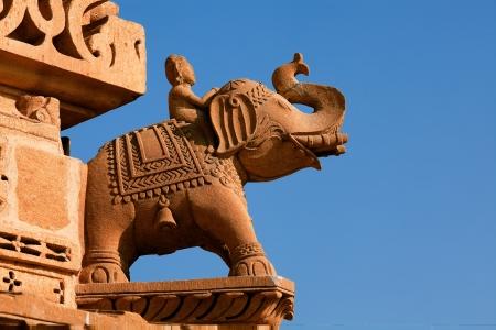 jain temple of amar sagar near jaisalmer in rajasthan state in indi photo