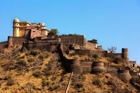 ramparts: kumbhalgarh Fort near ranakpur in rajasthan state in india Editorial