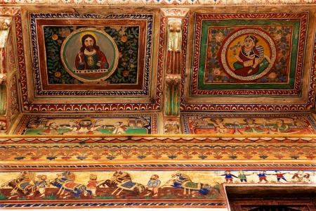 details design of  Muraraka haveli in nawalgarh city rajasthan state in indi, christ;