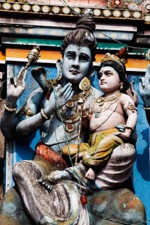 hindu temple: gopuram of Vishnu Temple of Cochin in Kerala state india