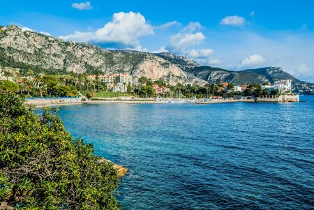 alpes maritimes: Beaulieu bay in alpes maritimes french riviera France Stock Photo