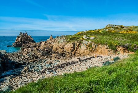 cotes d armor: Brehat island in brittany cotes d armor France