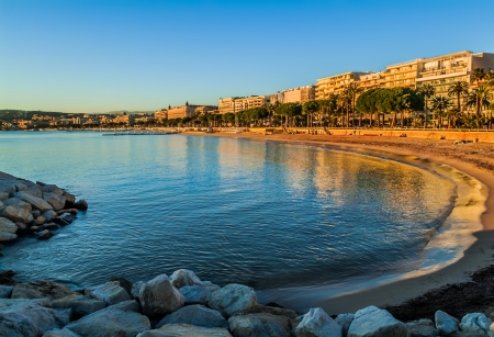 alpes maritimes: Cannes bay in alpes maritimes french riviera France Stock Photo