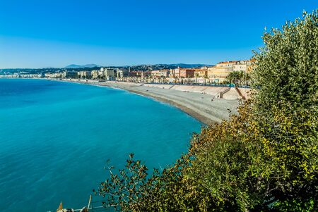 alpes maritimes: Nice bay in alpes maritimes french riviera France