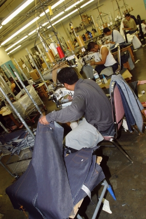 manufacturing fashion jean denim pants manufacture factory in los angelEs