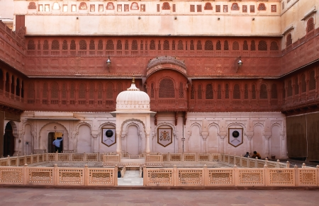 bikaner: Junagarh Fort in city of Bikaner rajasthan state in indi