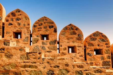 ramparts: kumbhalgarh Fort near ranakpur in rajasthan state in indi