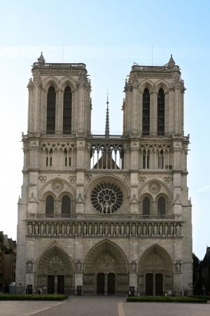 notre dame de paris in the beautiful city of paris\ france