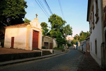 streetscene: street view of olinda near recife pernambuco state brazil