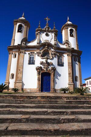 미나스 제 라이스 브라질의 오로 프레 토 (Ouro Preto) 도시