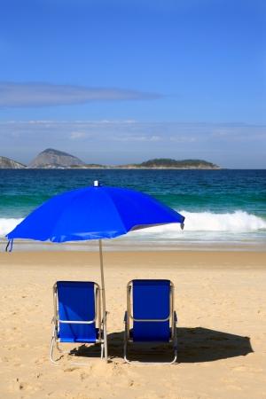 bleu transat sur la plage d'Ipanema Rio de Janeiro Brésil