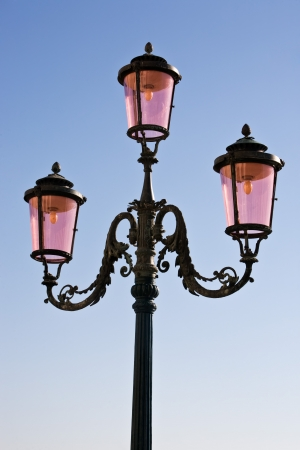public lighting in the beautiful city of venice in italy Stock Photo - 16923221