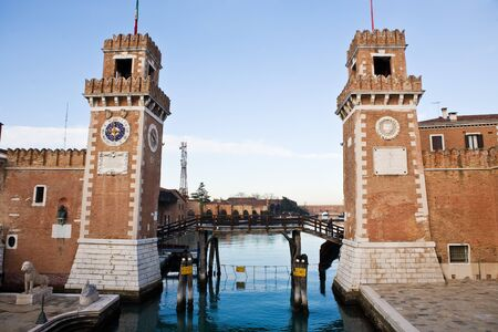 the arsenal in the beautiful city of venice in italy Stock Photo - 16919898