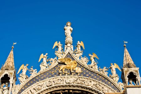 the basilic pazzia san marco saint mark place in the beautiful city of venice in italy Stock Photo - 16924513