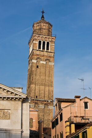 campanile santo stefano in the beautiful city of venice in italy Stock Photo - 16924340