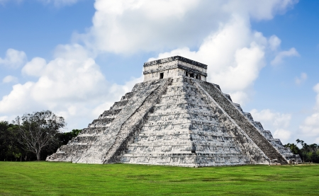 Kukulkan Pyramid  of Chichen Itza yucatan was a Maya  archaeological sites Mexico photo