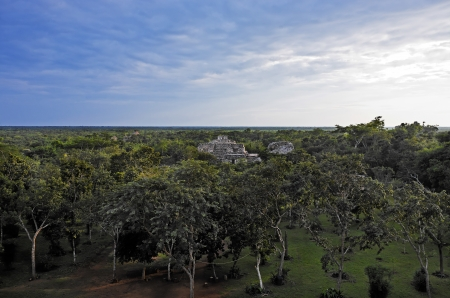 view of ek balam in the yucatan is a recently discovered Maya city lost in the jungle archaeological sites Stock Photo - 17116224