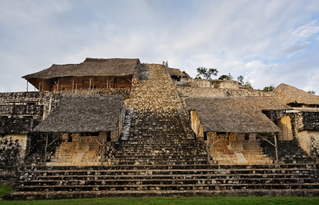 view of ek balam in the yucatan is a recently discovered Maya city lost in the jungle archaeological sites photo