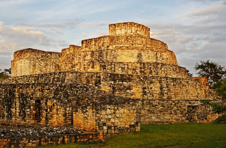 archaeological sites: view of ek balam in the yucatan is a recently discovered Maya city lost in the jungle archaeological sites