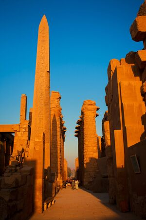 view of the Karnak temple with the Obelisk in luxor upper egypt Stock Photo - 17115162