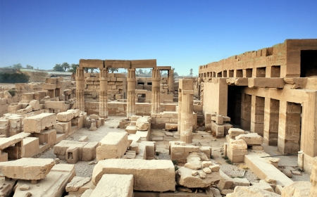 nile: view of the Karnak temple in luxor upper egypt Editorial