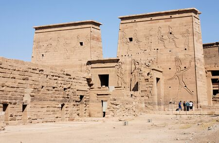view of the Philae temple in aswan upper egypt Stock Photo - 17118662