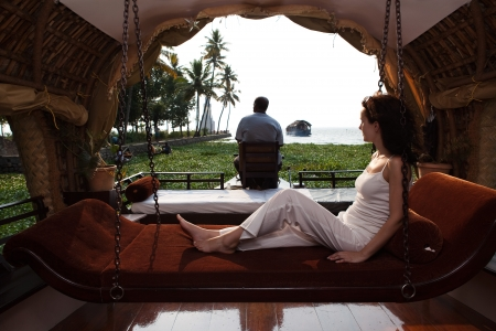 kerala culture: houseboat tour in the backwaters in Kerala state india