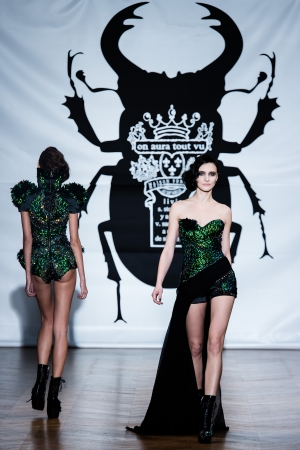 PARIS - JANUARY 23, 2013   on aura tout vu spring summer 2013 fashion show at Paris fashion week January 23, 2013 in Paris ,France Stock Photo - 17522559
