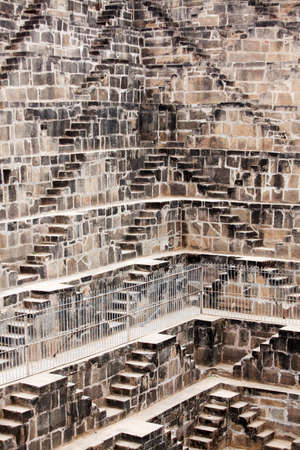 dausa: the giant step well of abhaneri in rajasthan state in india