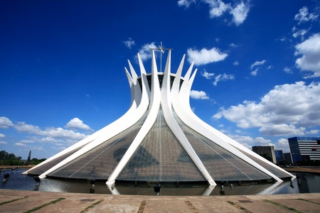 Catedral Metropolitana Nossa Senhora AparecidaThe Metropolitan Cathedral of Brasilia city capital of Brazil. is an expression of the geniality of the architect Oscar Niemeyer