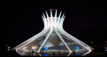 Catedral Metropolitana Nossa Senhora AparecidaThe Metropolitan Cathedral of Brasilia city capital of Brazil. is an expression of the geniality of the architect Oscar Niemeyer Editorial