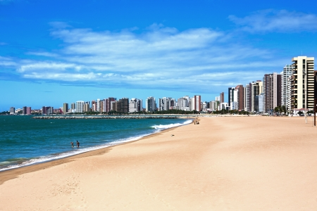 beach of Fortaleza in ceara state brazil Stock Photo