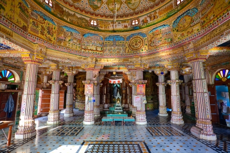 hindu temple: Laxmi Nath Temple in city of Bikaner rajasthan state in india