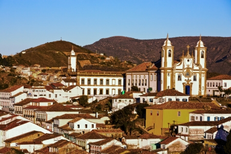 senhora: view of the igreja de nossa senhora do carmo of ouro preto in minas gerais brazil