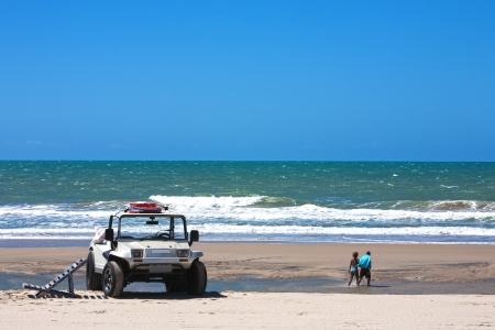 buggy: buggy tour and prainha beach near fortaleza in ceara state in brazil Stock Photo