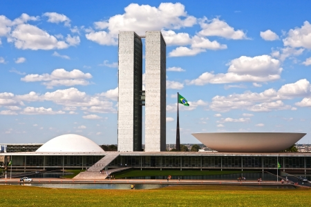 national congress: The Metropolitan Cathedral of Brasilia city capital of Brazil UNESCO World Heritage site is an expression of the geniality of the architect Oscar Niemeyer