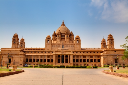 Umaid Bhawan palace hotel in the beautiful city of jodhpur in rajasthan state in india Editorial